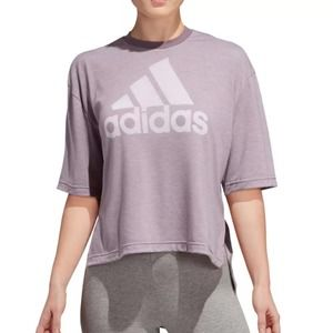 Adidas Badge of Sport Burnout Tee Size Small